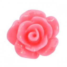 Roosjes kralen 10mm shiny Rouge Pink