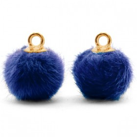 Pompom 12mm Denim blue-gold