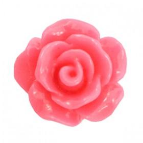 Roosjes kralen 10mm shiny Indian pink