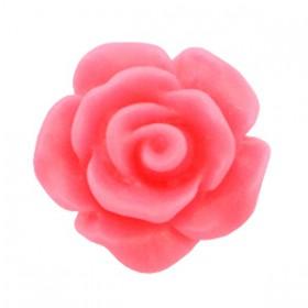 Roosjes kralen 10mm matt Indian pink