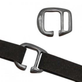 DQ metalen gesp Ø10mm Zilver antraciet (nikkelvrij)