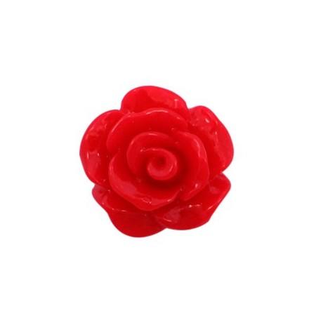 Roosjes kralen 10mm shiny Scarlet red