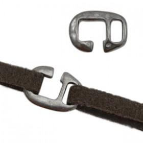DQ metalen gesp Ø5mm Zilver antraciet (nikkelvrij)