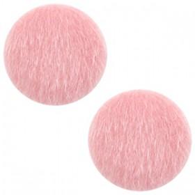 Faux fur cabochon 20mm Vintage pink