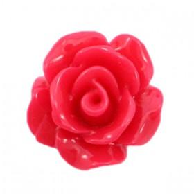 Roosjes kralen 10mm shiny Raspberry red