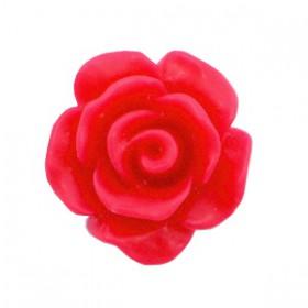 Roosjes kralen 10mm matt Raspberry red