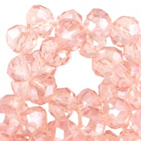 Facet kralen 4x3 mm disc Rose Peach