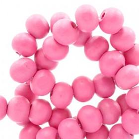 Houten Kralen Rond 8mm Rouge pink