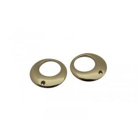 Metalen bedelopen cirkel Goud