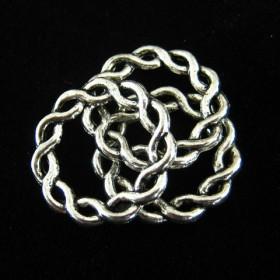 Gesloten ring Antiek zilver 20mm