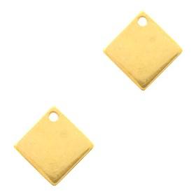 DQ bedel vierkant 10mm Goud (nikkelvrij)