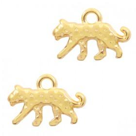 DQ bedel luipaard Goud (nikkelvrij)
