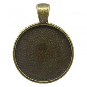 Basic hanger met setting voor cabochon 25mm Antiek brons