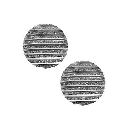 cabochon 20mm basic stripe Metallic silver