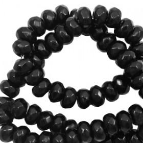 Natuursteen rond 6mm facet geslepen Black