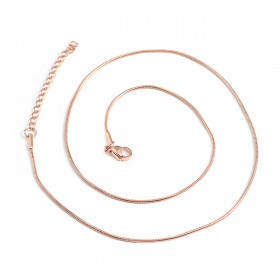 RVS Halsketting Snake chain rose gold