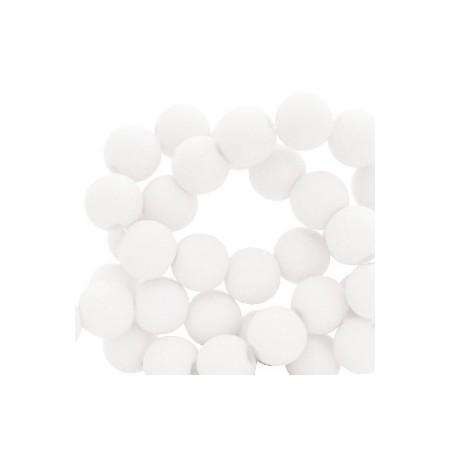 Acryl kralen mat rond 8mm White