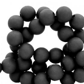 Acryl kralen mat rond 10mm Black