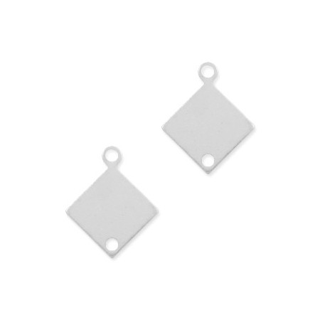 Sterling Silver 925 bedeltje tussenstuk ruit