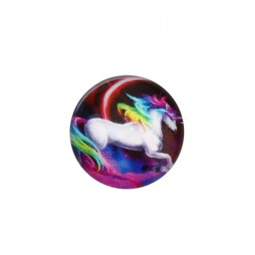 cabochon 20mm Multicolor unicorn