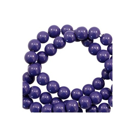 Glaskraal full mat 4mm opaque Crown blue