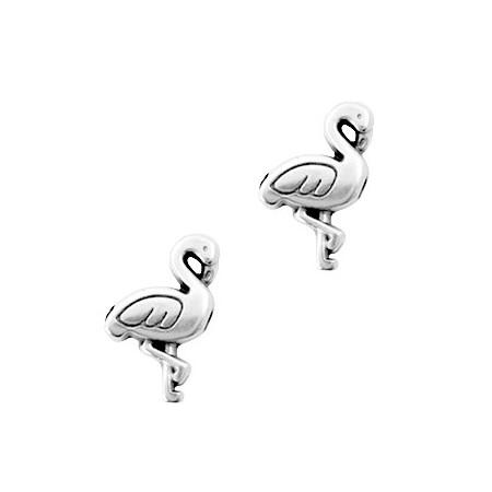 Kralen DQ metaal flamingo Zilver (nikkelvrij)