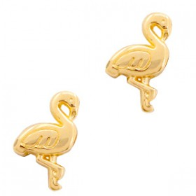 Kralen DQ metaal flamingo Goud (nikkelvrij)