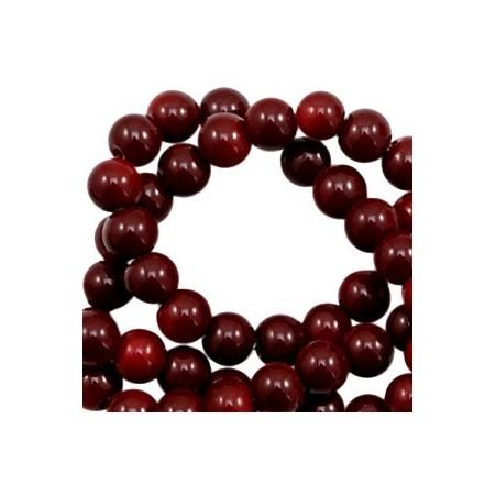 Glaskraal 6 mm opaque Dark wine red