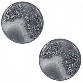 12mm platte cabochon classic Polaris stardust Gallant grey
