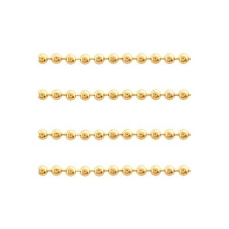 RVS ball chain 1.4mm goud