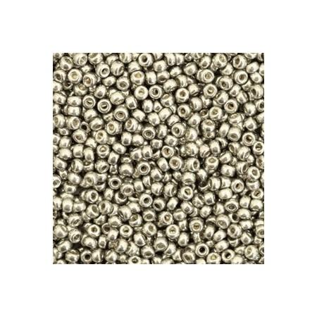 Miyuki Rocailles 11/0 Duracoat galvanized light pewter silver