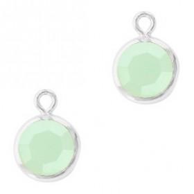 DQ facethanger Zilver Powder opal green