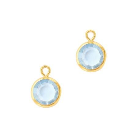 DQ facethanger Goud Light sapphire