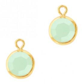 DQ facethanger Goud Powder opal green