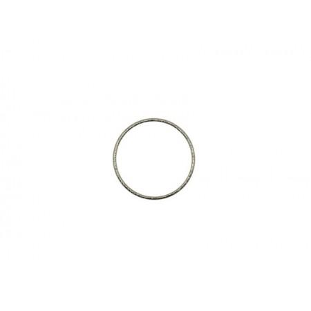 Gesloten cirkel Rhodium 19mm (nikkelvrij)