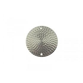 Connector rond 20mm rhodium