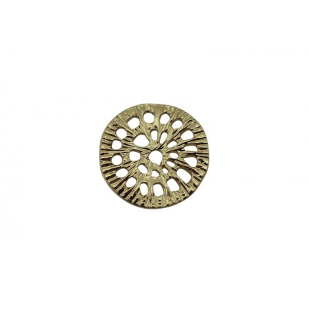 Connector rond 15mm goud