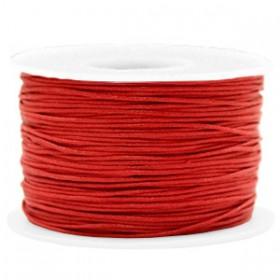 Waxkoord 1.0mm Warm red