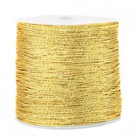 Macramé draad 0.7mm metallic Cornsilk gold