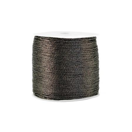 Macramé draad 0.7mm metallic Anthracite