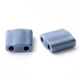 Miyuki tila 5x5 mm Opaque matte gun metal grey