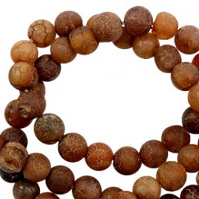 Natuursteen ronde kralen 6mm Multicolour dark brown