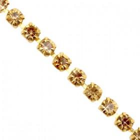 Cup chain 3mm Cornsilk gold-gold