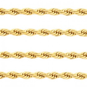 Roestvrij stalen (RVS) Stainless steel twist jasseron Goud
