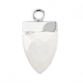 Natuursteen hangers tand Storm grey-silver