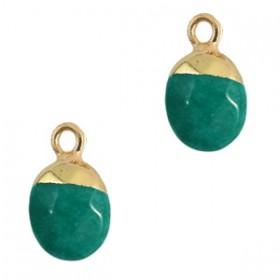Natuursteen hangers Eden green-gold