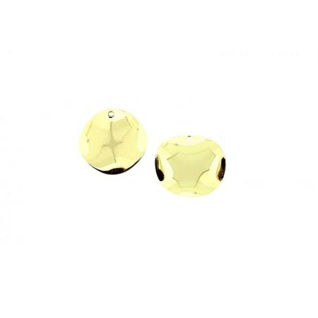Bedel metalen schijf 17mm Goud