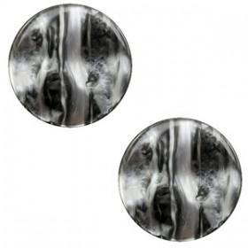 cabochon 20mm Polaris Perseo Black silver