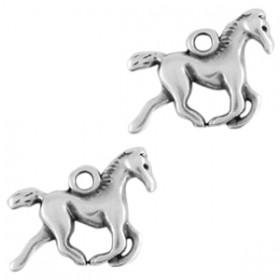 DQ bedel paard Antiek zilver (nikkelvrij)