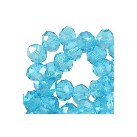 Facet kralen 4x3 mm disc Aquamarine
